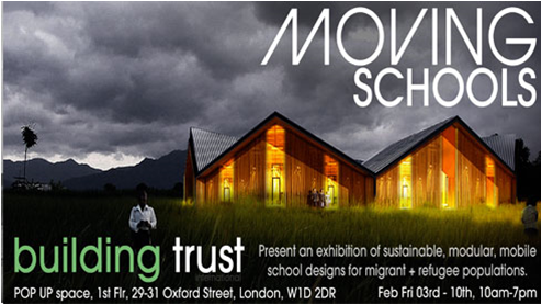 SCHOOL FOR BURMA EXHIBITED AT THE POP UP SPACE, OXFORD STREET,LONDON